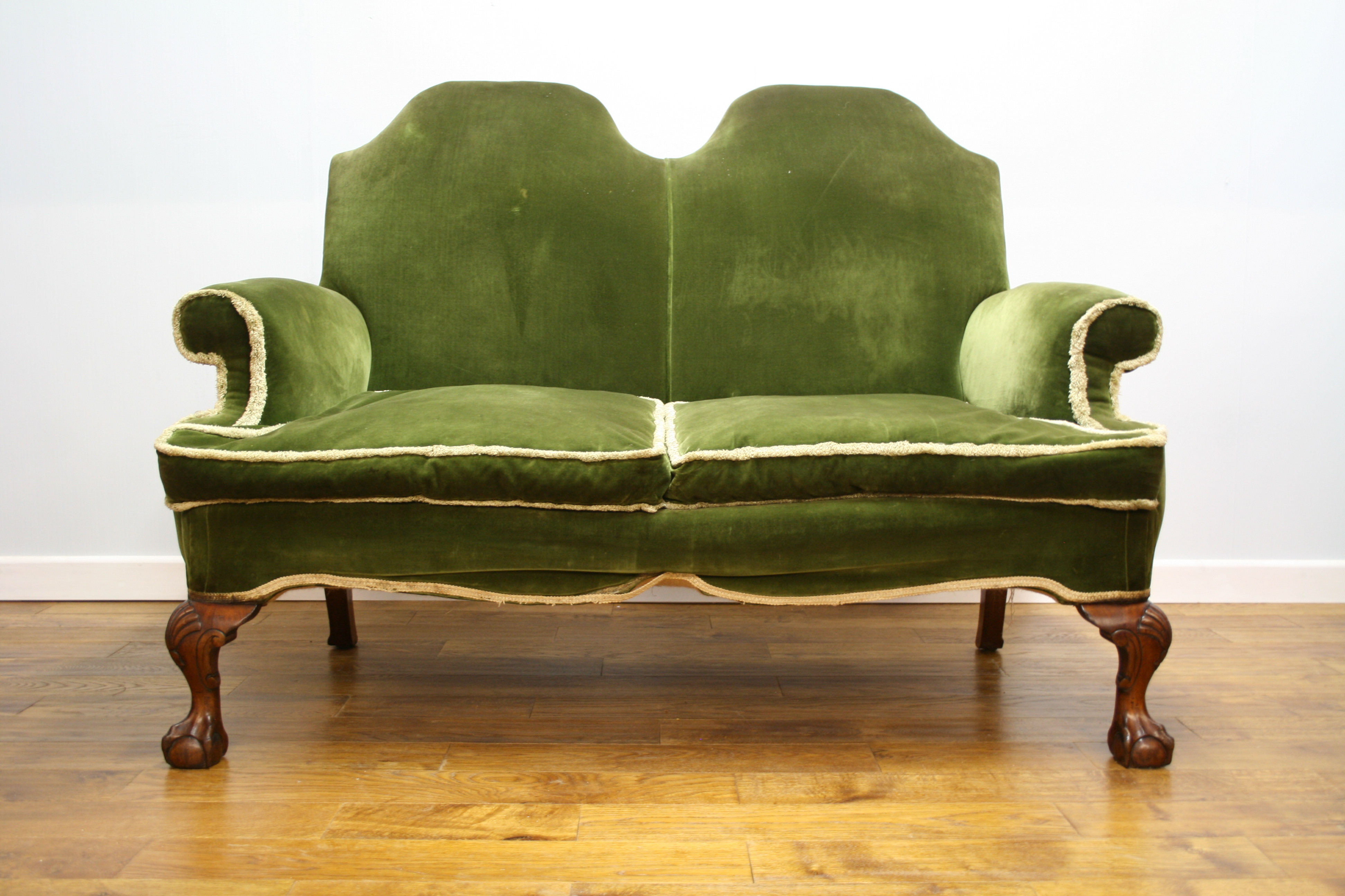 Quality Queen Anne Style Wing Sofa Pure Imagination