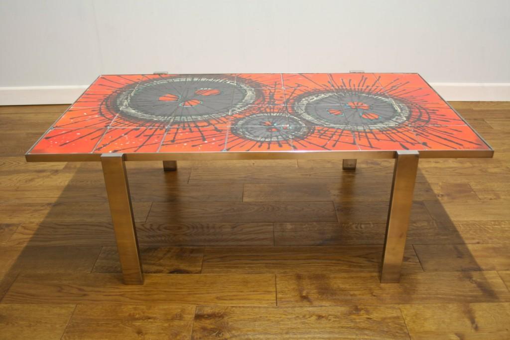 1970s Belarte Ceramic Tiled Coffee Table Pure Imagination