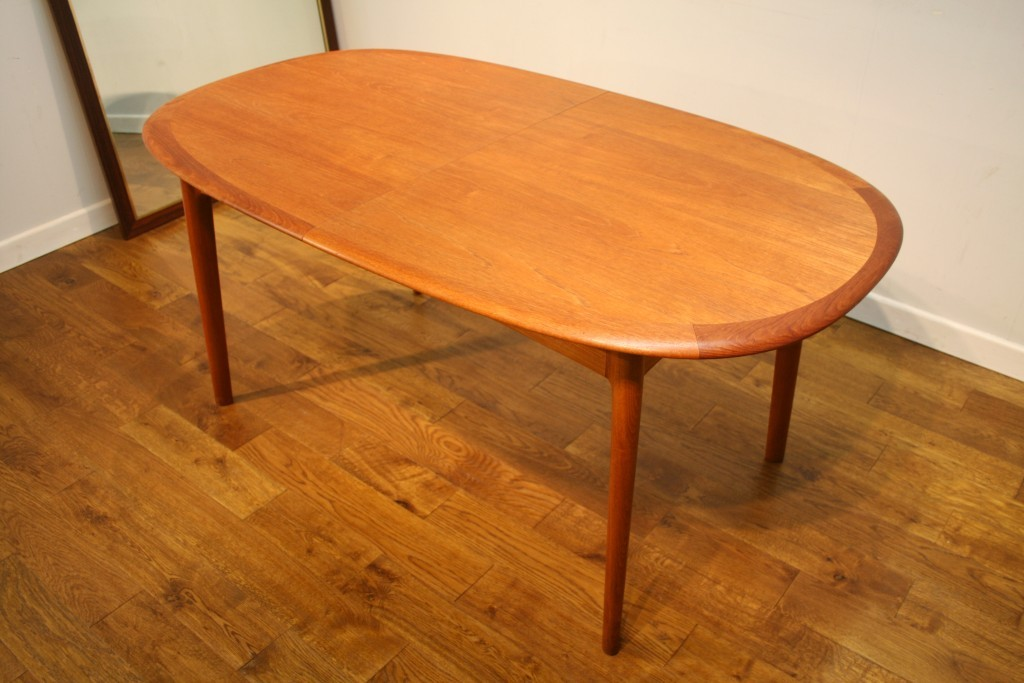 archive furniture danish oval teak dining table gelsted mobler
