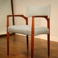 small teak framed danish chair