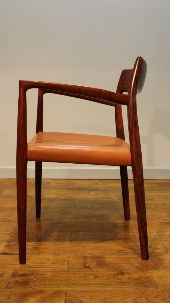 set of moller rosewood danish dining chairs model