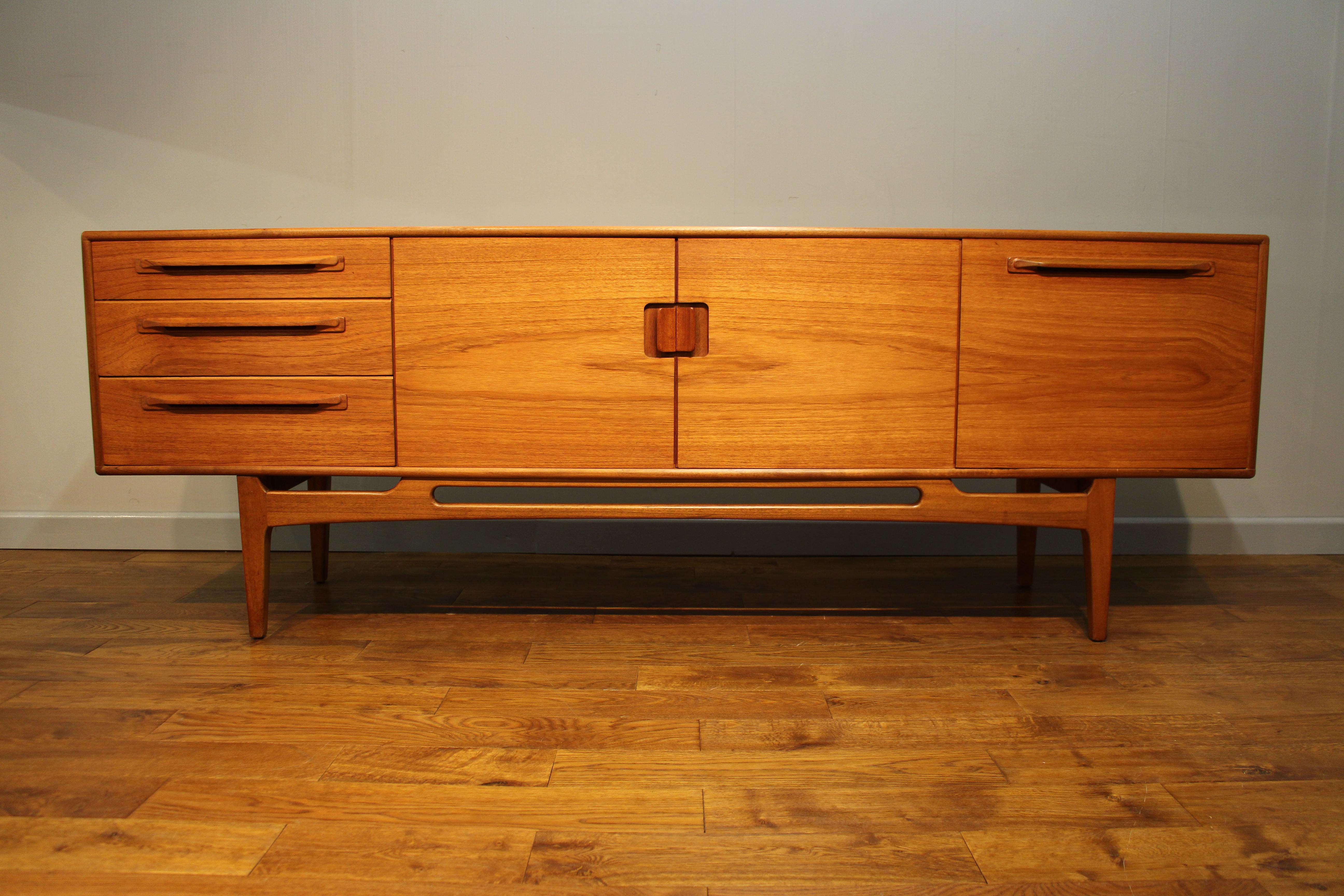 1960s Vintage Beithcraft Teak Sideboard 213cm S Pure