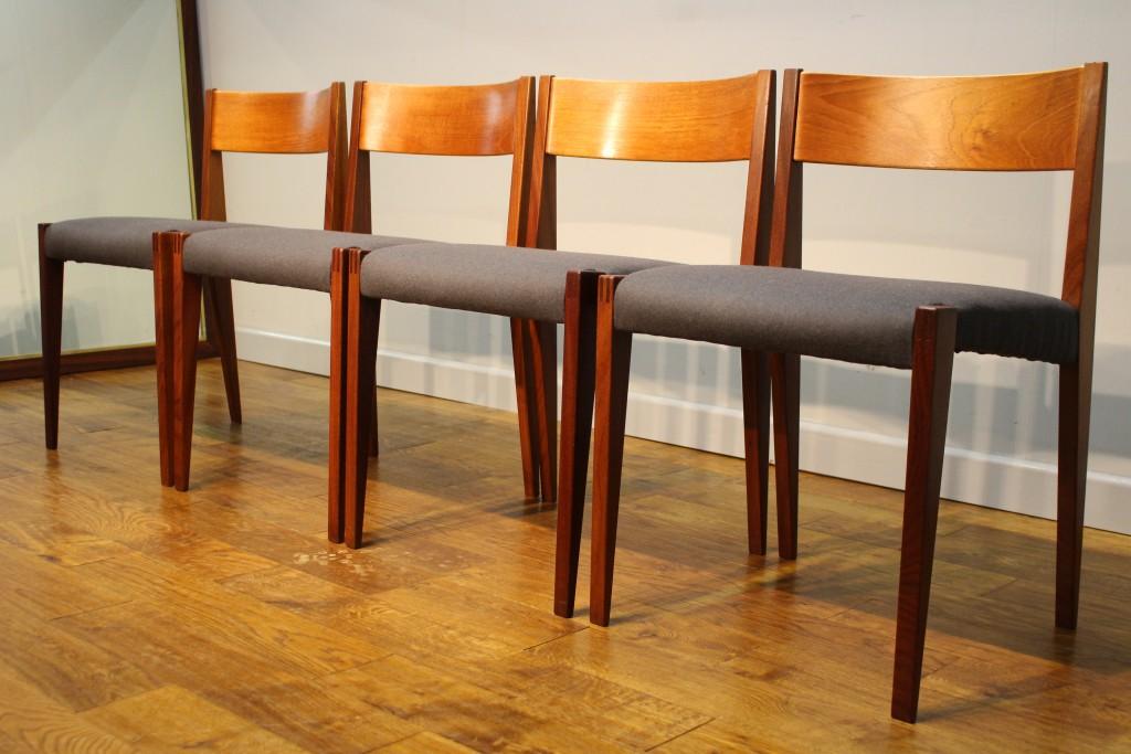 Poul Cadovius Teak Dining Chairs 1960s Pure Imagination