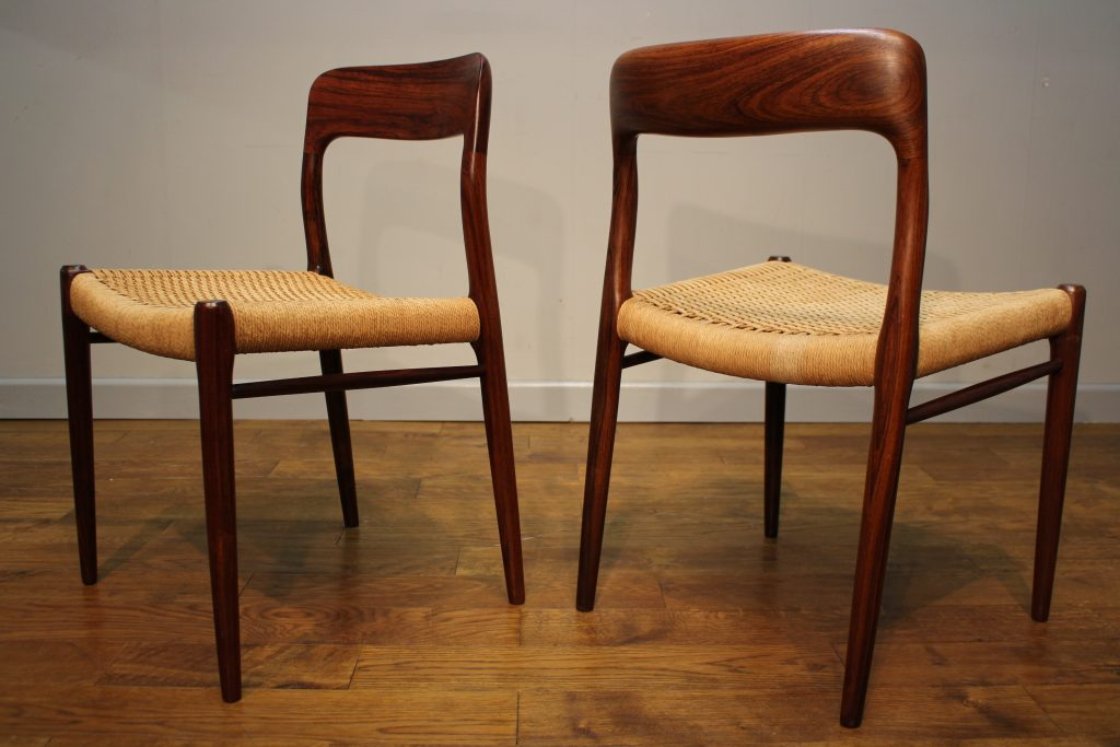 Niels moller rosewood dining chairs model pure