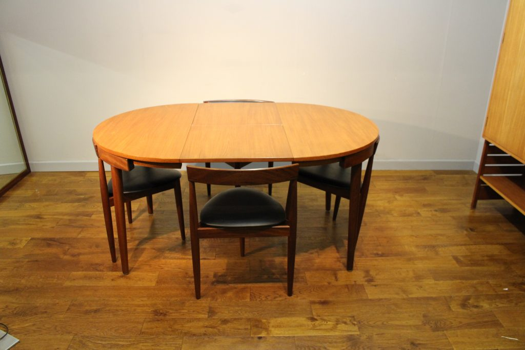 Hans Olsen Roundette Table 4 Chairs Frem Rojle Pure