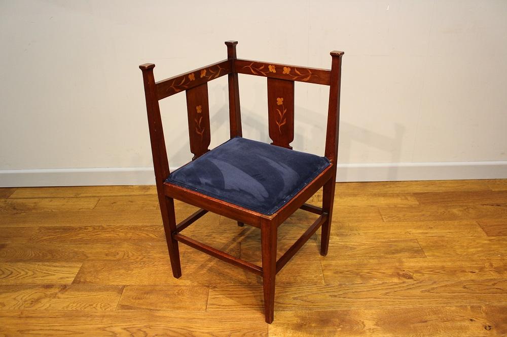 Art Nouveau corner chair by J S Henry Pure Imagination