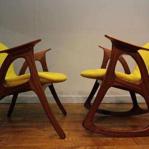 Enjoyable Aage Christiansen Mid Century 1960S Teak Rocking Chair And Unemploymentrelief Wooden Chair Designs For Living Room Unemploymentrelieforg