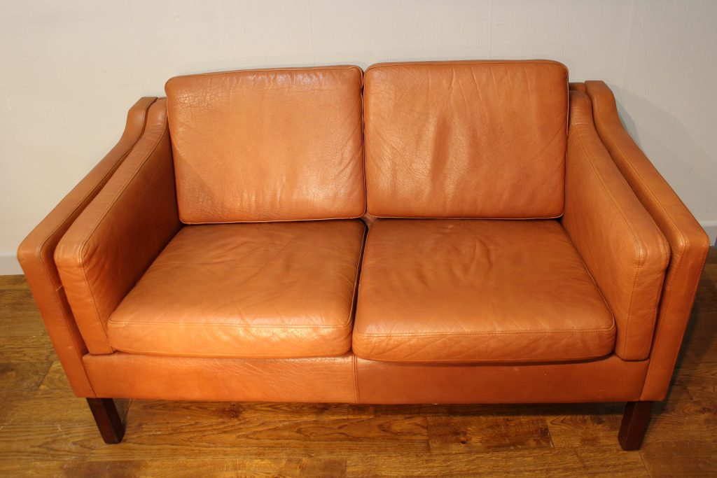 Borge Mogensen Style Leather Sofa Pure Imagination
