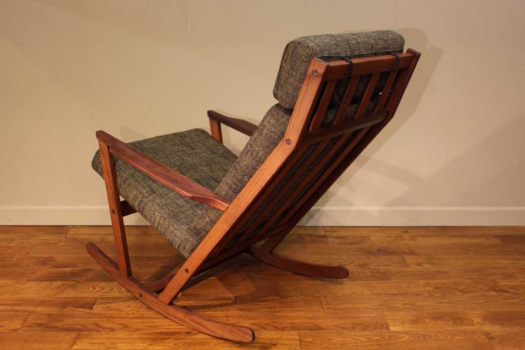 Poul Volther Rocking Chair Produced By Frem Rojle Of